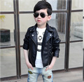 kids tops child autumn spring clothes Children Jacket for Baby Boys Outerwear Girls PU Leather Coat