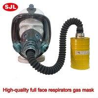 Yüksek kaliteli solunum gaz maskesi 3 setleri yangın kontrol askeri pestisitler gasmaske karşılaştırılabilir III M 6800 gasmaske