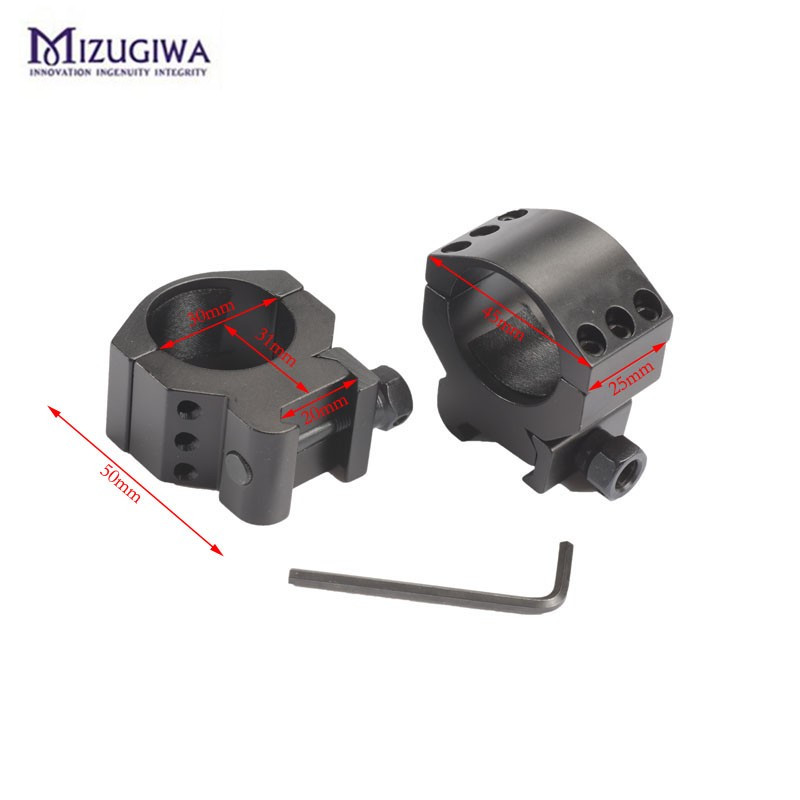 2 Pcs Low Profile Ring Weaver Picatinny Rail Scope Mount Heavy Duty 6 Bolts 30mm Scope Ring Extreme Hunting Caza Accessories