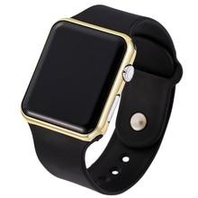 07452108f74 Mulheres Homens Banda Silicone LED Relógio de Pulso Eletrônico Digital  Relógios Preto Esportes Casuais Relógio Bayan