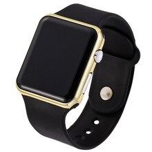 6e54cee13a64 Los hombres y las mujeres relojes digitales de banda de silicona negro  electrónica LED reloj de pulsera deportes Casual Erkek re.