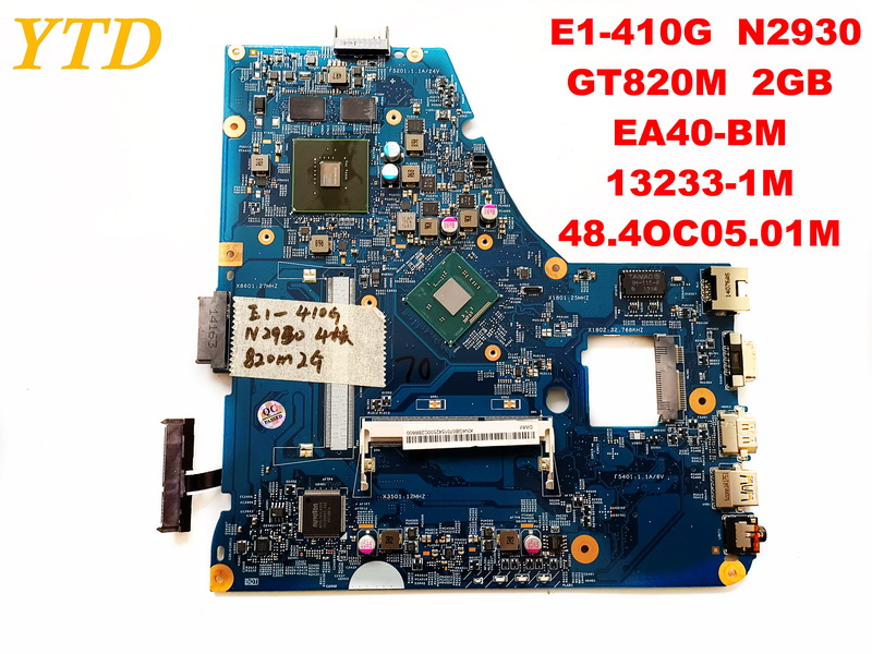 Original for ACER E1-410G laptop motherboard E1-410G N2930  GT820M 2GB  EA40-BM 13233-1M  48.4OC05.01M tested good free shippingOriginal for ACER E1-410G laptop motherboard E1-410G N2930  GT820M 2GB  EA40-BM 13233-1M  48.4OC05.01M tested good free shipping