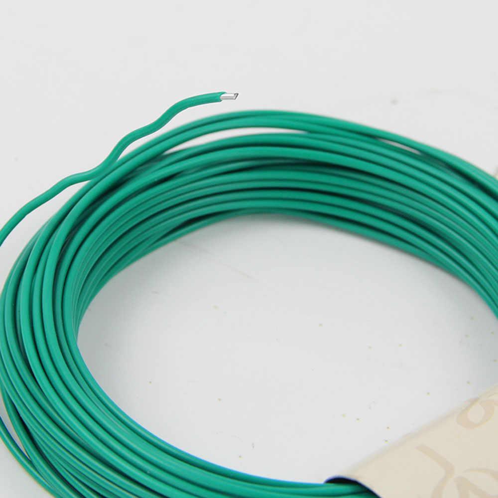 Cuerda de Cable Flexible para jardín, cuerda de Cable de madera recubierta de plástico