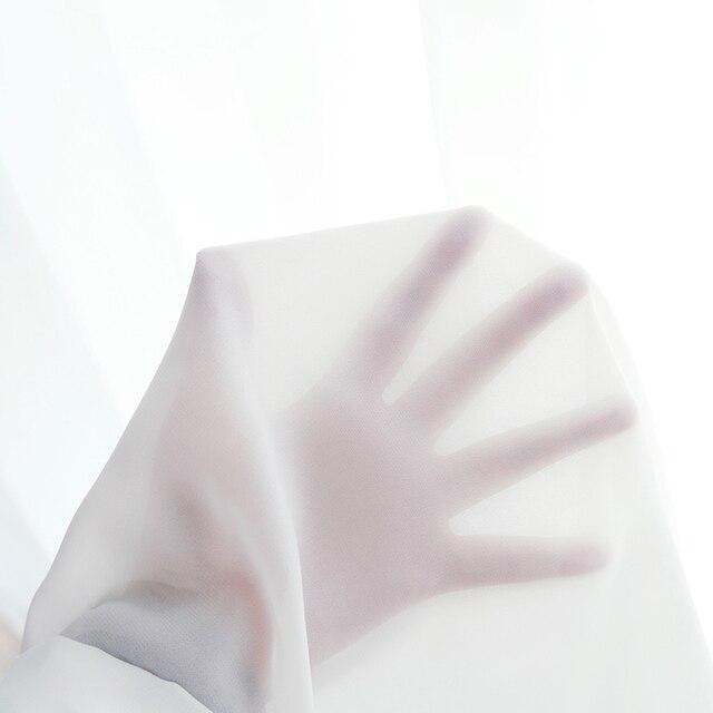 Bianco Tulle Tende per il Salone Della Decorazione Moderna Solido Chiffon di Pura Voile Tenda Cucina