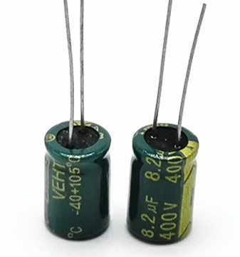 12pcs/lot 400V 8.2UF High Frequency Low Impedance 8*12.5mm 20% RADIAL Aluminum Electrolytic Capacitor 8200NF 20%