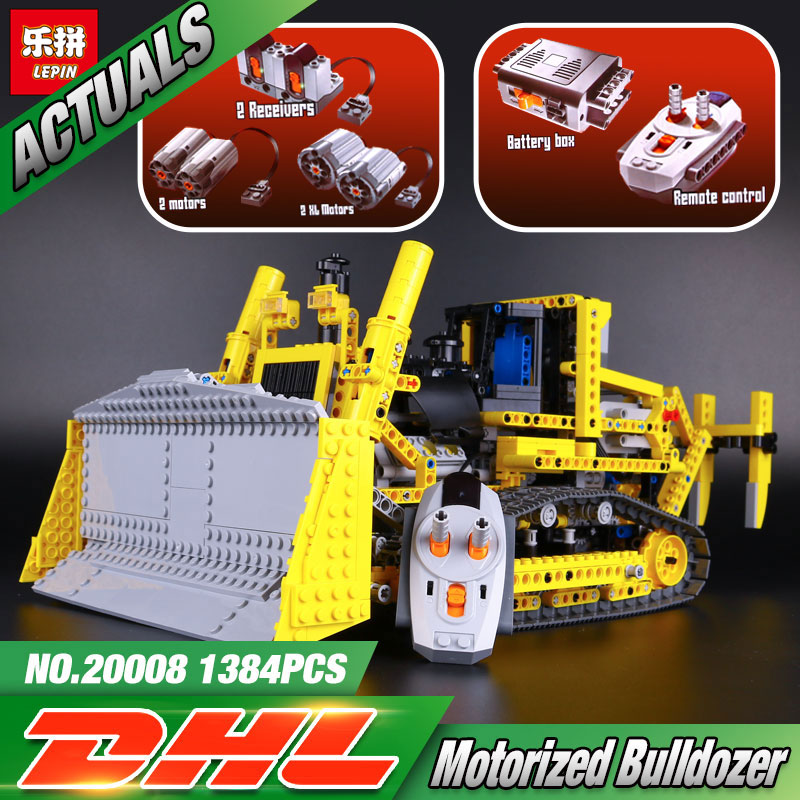 LEPIN 20008 technic series remote control the bulldozer Model Assembling Building block Bricks kits Compatible with 42030 lepin 20008 technic series remote contro lthe bulldozer model assembling building block bricks kits compatible with 42030