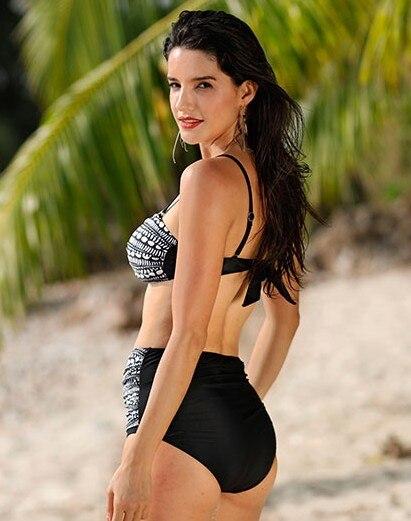 2018 Summer Styles Plus Size Swimsuit Sexy Print High Waist Swimwear Bikini Set Big Size Push Up Swimming Suit For Women 5XL