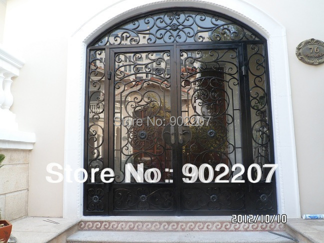 Custom design wrought iron door,metal door, iron gate id13
