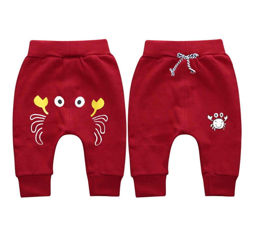 9044082e311d Baby Boy Girl Kids Pants crab Pattern Children Harem Pants Summer Spring  autumn Trousers Full Length Sports Pants 1 4T Clothes-in Pants from Mother  & Kids