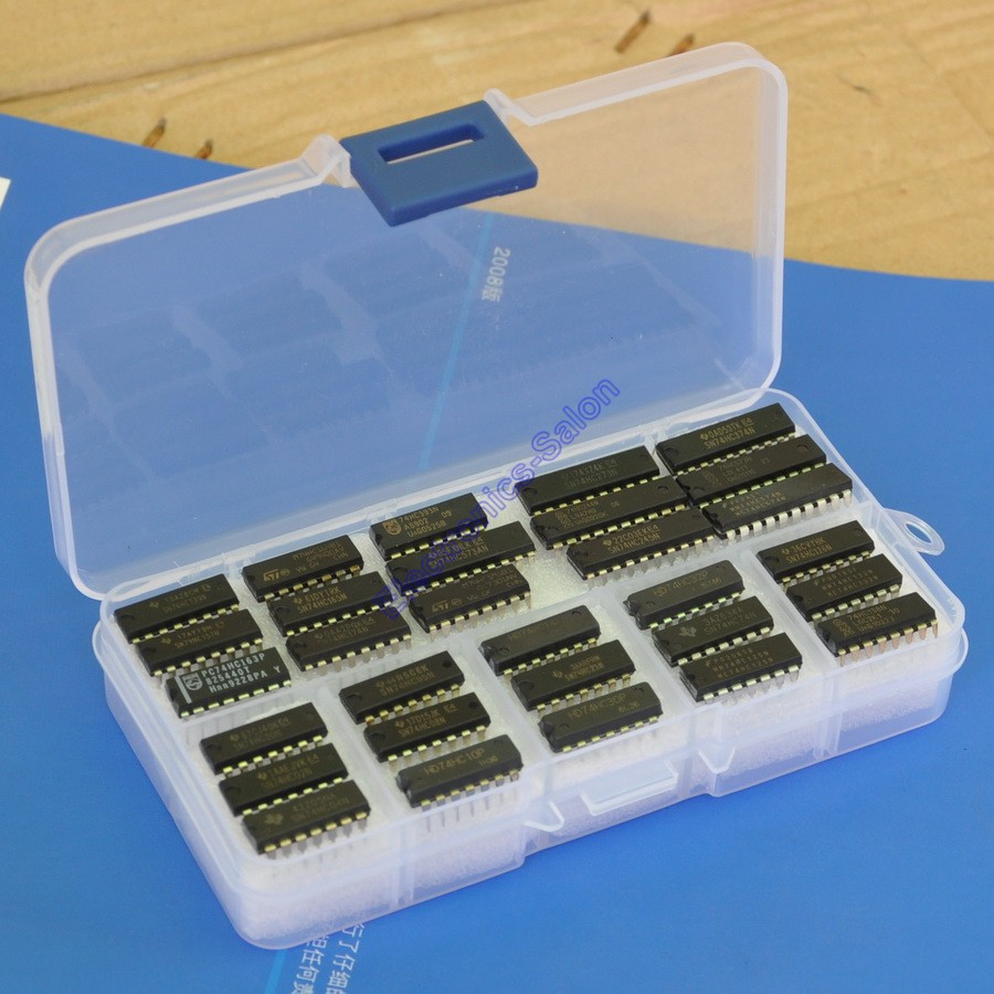 30 Types 74HCxx Series Logic IC Assortment Kit, High-Speed Si-Gate CMOS IC.