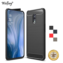 For OPPO Reno Case Luxury Brush Style Soft Rubber Silicone Protective Phone Back Cover Fundas