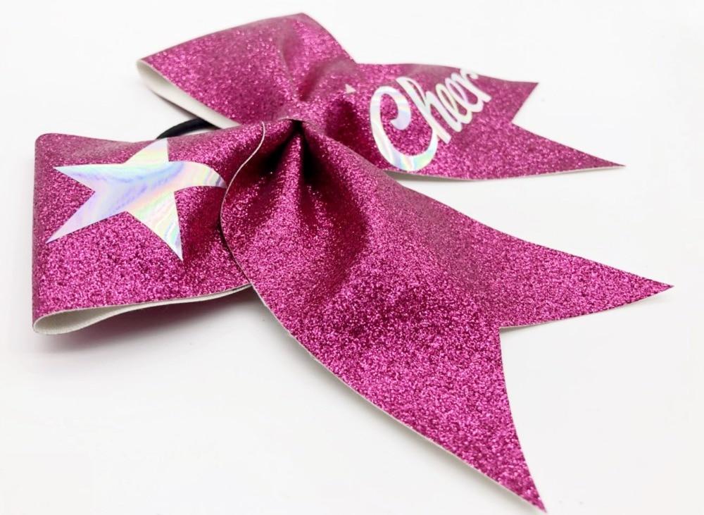 5pcs Girls Glitter Gradient Bow Cheerleader Hairbow  15*16cm Custom Made