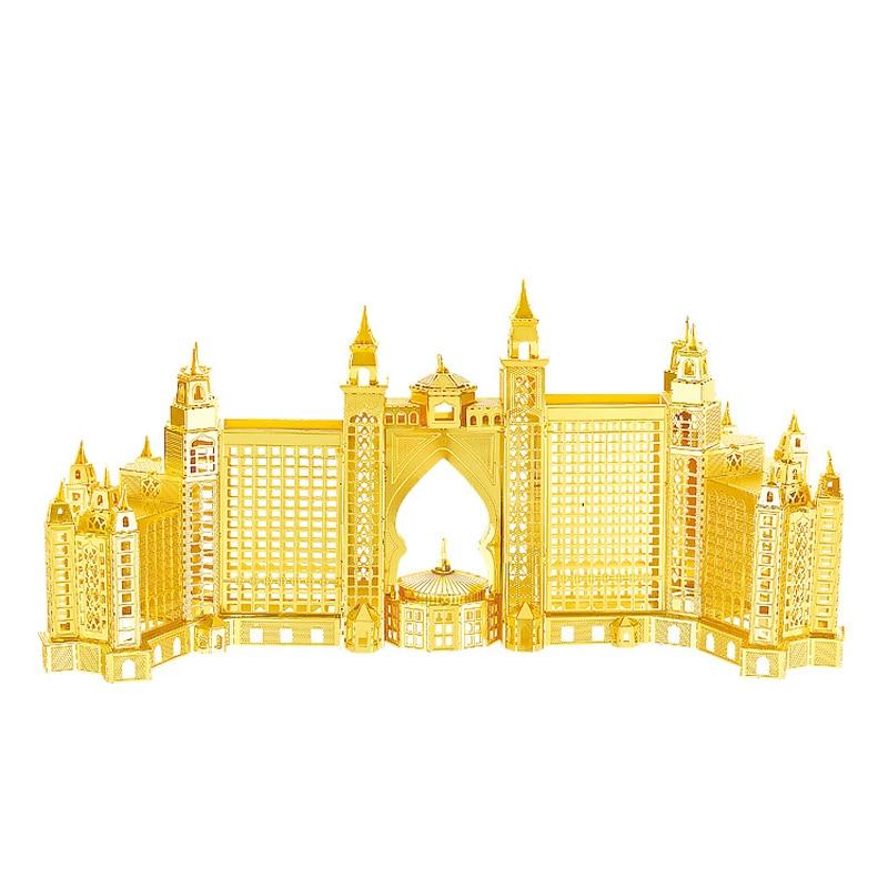 Nanyuan 3D Metal Puzzle Atlantis Hotel building Modelo DIY Laser Cut - Juegos y rompecabezas