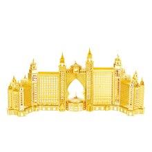 Nanyuan 3D fém puzzle Atlantis Hotel épület Modell DIY lézeres vágott összeszerelése Jigsaw Toys Asztali dekoráció GIFT Audit