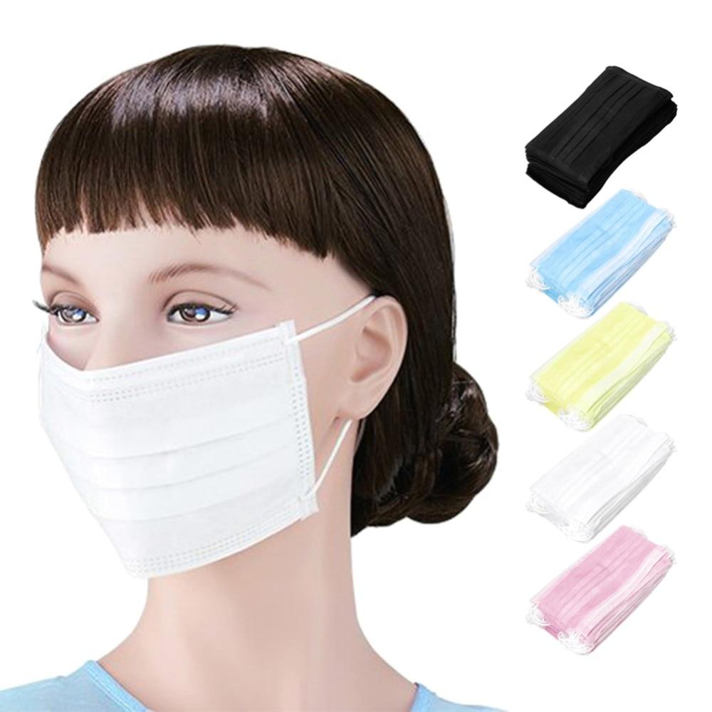 50 Pz/pacco 3-ply Anti-polvere Usa E Getta Chirurgico Medical Salon Clip Viso Bocca Maschere Salute E Bellezza Strumento