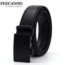 FEECANOO Fashion Designers Men Automatic Buckle Leather luxury Belts Business Male Alloy buckle Belts for Men Ceinture Homme