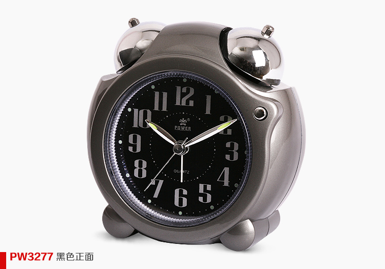 Overlooks watches and clocks cartoon eco-friendly quieten luminous mechanical alarm clock bell