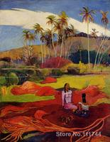Beautiful Landscapes Tahitian Women under the Palms Paul Gauguin painting for sale High quality Hand painted