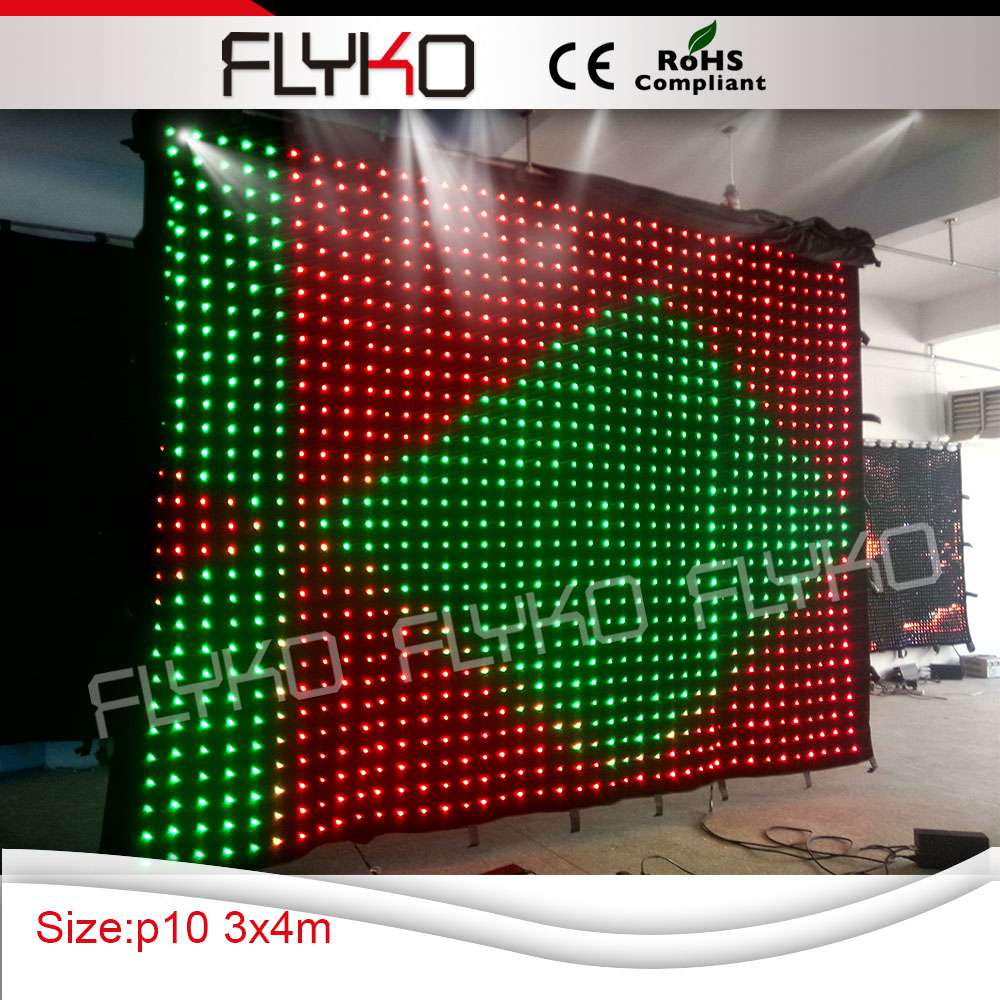 Chinese Sexy Video Led Video Version Cloth Curtain Rgb 3 In1 Soft Portable Dj Dmx Background With Controller