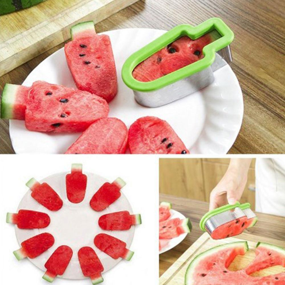Stainless Steel Watermelon Slicer Fruit Melon Cutter Knife Fast Ice Cream Mold Cutting Tools Kitchen Gadgets