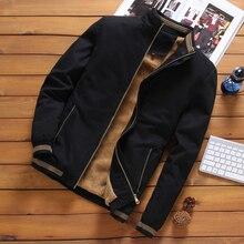 DIMUSI Autumn Mens Bomber Jackets Casual Male Outwear Fleece Thick Warm Windbrea