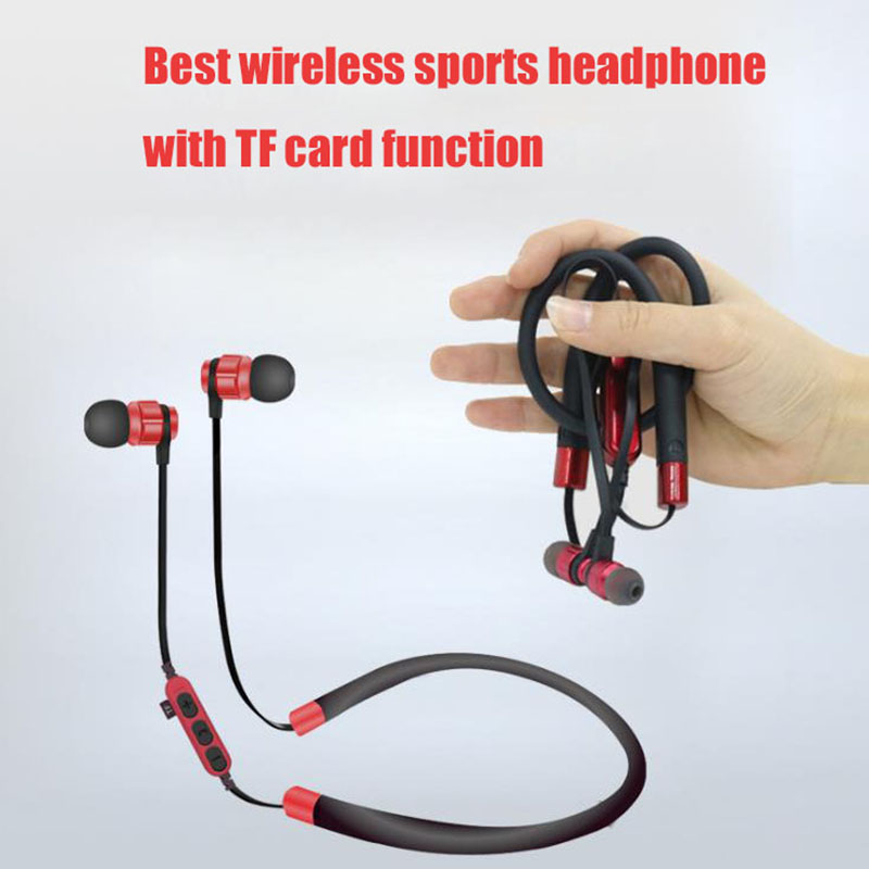Support TF/SD Card Headphone Bluetooth 4.1 Neckband Sports Bass Wireless Earphone with mic For Xiaomi Redmi Note 4X 4 X