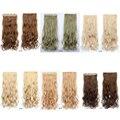 2016 moda largo rizado al por mayor de cinco envío tarjeta de marca de extensiones de cabello clip en pedazo del pelo de la onda larga rizada rizada virginal