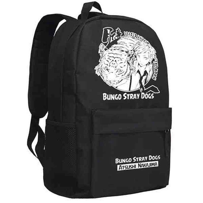 Anime Bungou Stray Dogs Backpack College Student School Rucksack Book Bags For Teenagers Casual Travel Daypack Mochila #5