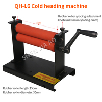 manual Cold Roll Laminator QH L6 cold heading machine 15cm rubber roller length Laminating machine 1pc