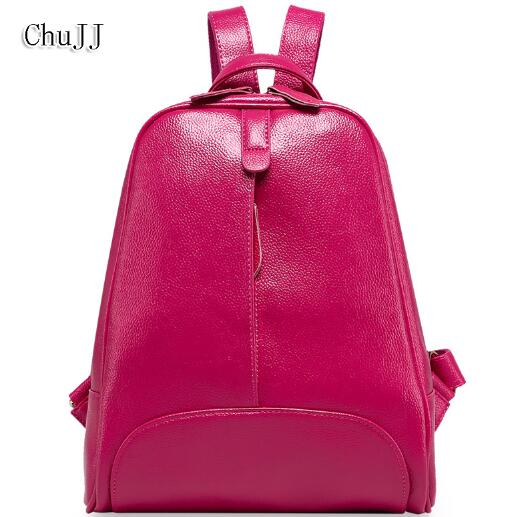 Chu JJ Designer High Quality Fashion Women Genuine Leather Backpacks Girl School Bag Laptop Travel Bag Ladies Shoulder Bags new gravity falls backpack casual backpacks teenagers school bag men women s student school bags travel shoulder bag laptop bags