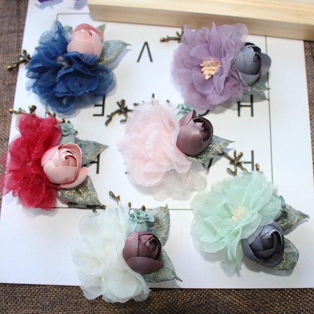 Новая мода Женская брошь ручной работы большой Ткань Двор цветы броши булавки Jewelry рубашка пальто корсаж интимные аксессуары
