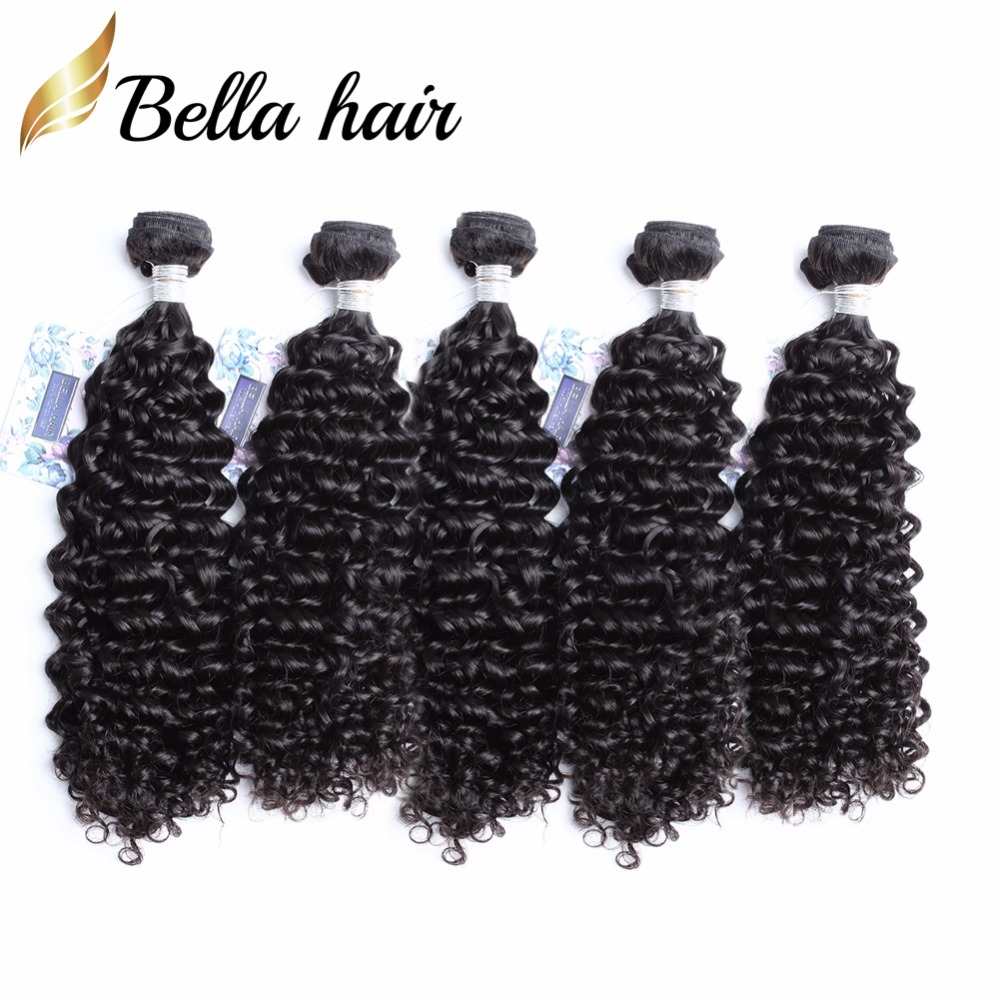 Bella Hair 5 Bundles 9a Peruvian Curly Hair Weave Human Hair
