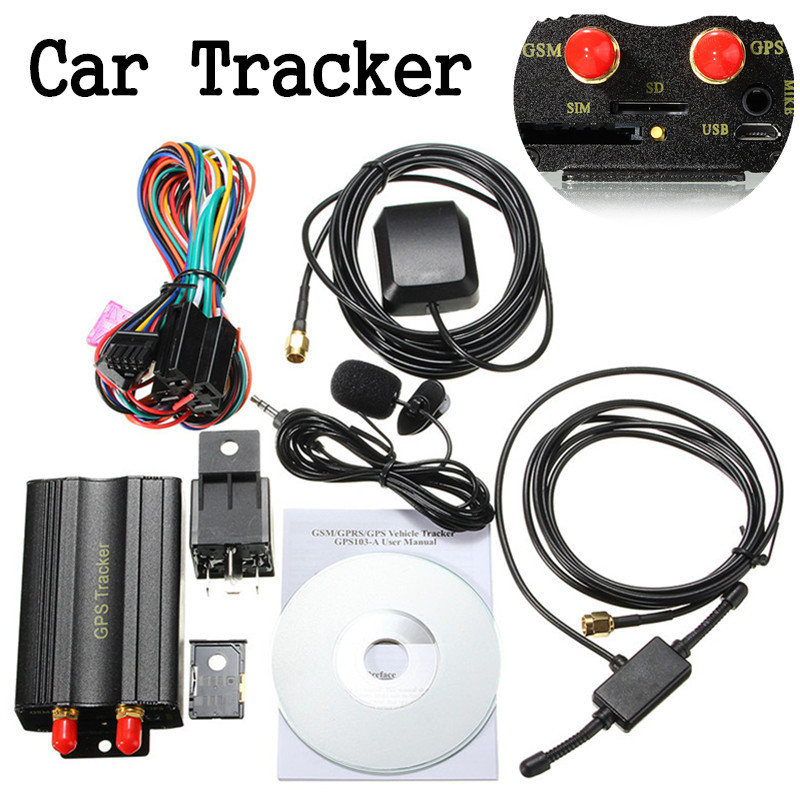 Real-Time GSM/GPRS Tracking Google Map Link Track Vehicle Car GPS Tracker 103A TK103 GPS103A Real Time Tracker glyby tk103 gps gsm gprs car vehicle positioning tracker system black