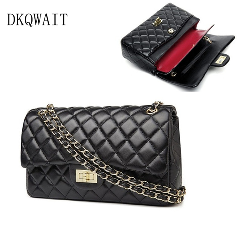 Detail Feedback Questions about 2018 New Fashion leather messenger chain  bags a94200957caca