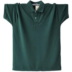 Image 2 - Hommes grande taille grand t Shirts dété col rabattu 8XL 9XL 10XL 11XL 12XL COTON t Shirts à manches courtes lâche 58 60 62 64 66 68 70 72