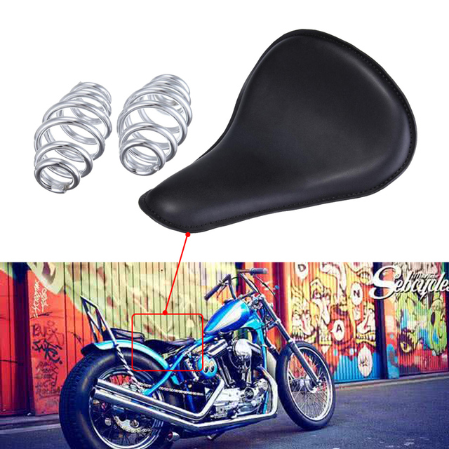 Leather Solo Seat Bracket Springs Mounts Kit For Harley Sportster 883 1200 XL 48 72