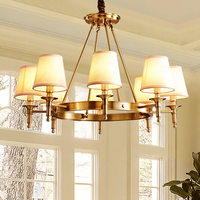 All Copper Chandelier Modern Chandelier Light Fixture led Dining Room Chandelier Living Room Lamp American Chandeliers long lamp