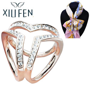 XIUFEN Women Brooch Scarf Buckle Accessories Brooch Pin Shawl Scarves Scarf Buckle Clips Women Jewelry zk35(China)
