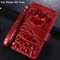 Carteira de luxo virar pu leather case capa para meizu m3 nota case crocodile 3d saco de telefone celular para meizu m3 nota