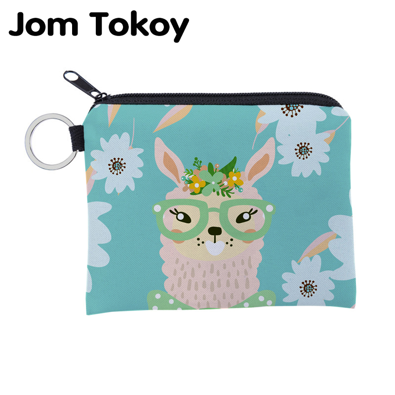 Cute Llama And Cactus Cute Buckle Coin Purses Buckle Buckle Change Purse Wallets