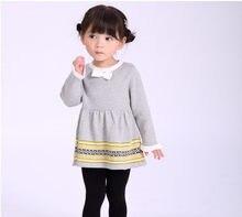 035298a029f64 Mode Automne Hiver Enfants Vêtements Nouveau-Né Bébé Filles Chandail  Princesse Robe Infantile Tricot Gress Enfants Petite Fille .