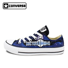 Converse All Star Women Shoes Custom Design Hand Painted Galaxy DW Skateboarding Shoes Brands Mens Canvas Sneakers