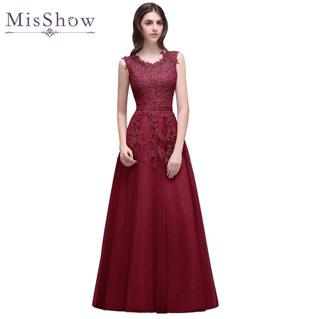 vestido de festa longo corto Lace Formal Evening Dress robe de soiree longue  2019 Beading Applique Evening Party Gown Prom Dress 13bc54657237