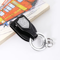 MILESI Man's Shield and Power Waist Hanging Car Keychain Gentle Key Keyring Man's Charm Pendant Business Gift k0218