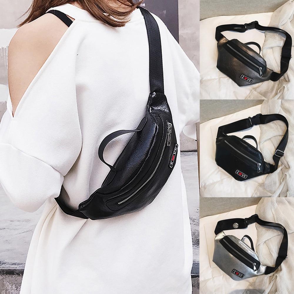 Bags For Women 2019 New Fashion Neutral Outdoor Zipper Sequin Messenger Bag Sport Chest Bag Waist Bag Cross-shoulder Pocket Engagement & Wedding