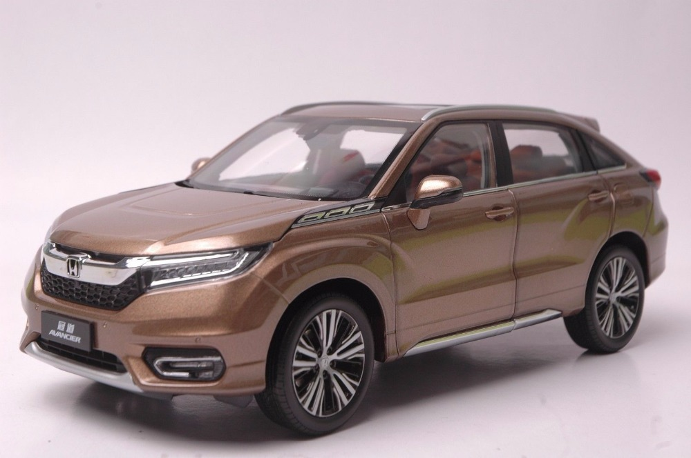 1:18 Diecast Model for Honda Avancier 2016 Brown SUV Alloy Toy Car Miniature Collection Gifts HRV 1 18 diecast model for volkswagen vw all new touran l 2016 brown mpv alloy toy car miniature collection gifts