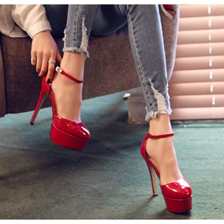 Hot fashion Women Ladies Platform Pumps Sexy Red Bottom High Heels ...