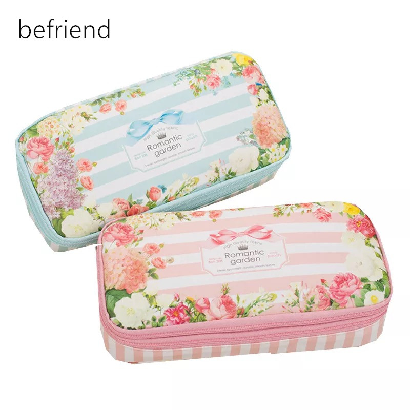 Garden Pencil Case Korea Stationery Pouch/Organizer/Storage Bag Double Layer Pencil Box Big Capacity Waterproof Pencase Estuche spark storage bag portable carrying case storage box for spark drone accessories can put remote control battery and other parts