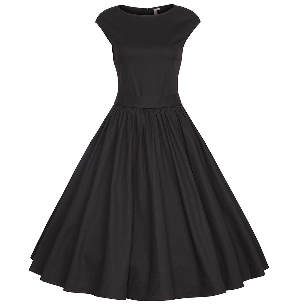 Audrey Hepburn 50s 60s retro elegant dress summer style vintage bl...
