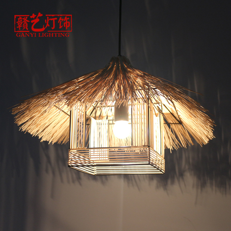 Southeast Asia style chandelier house, bamboo and rattan lighting restaurant, home town hotel, retro bamboo lampsSoutheast Asia style chandelier house, bamboo and rattan lighting restaurant, home town hotel, retro bamboo lamps
